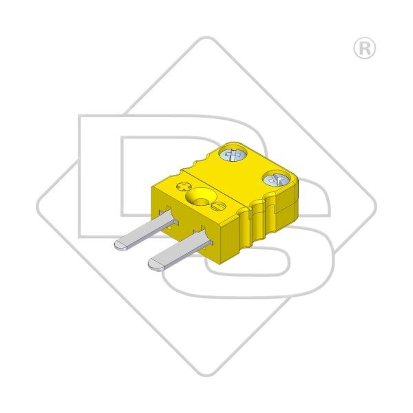 Miniatur Thermostecker Typ K gelb - Steckverbinder