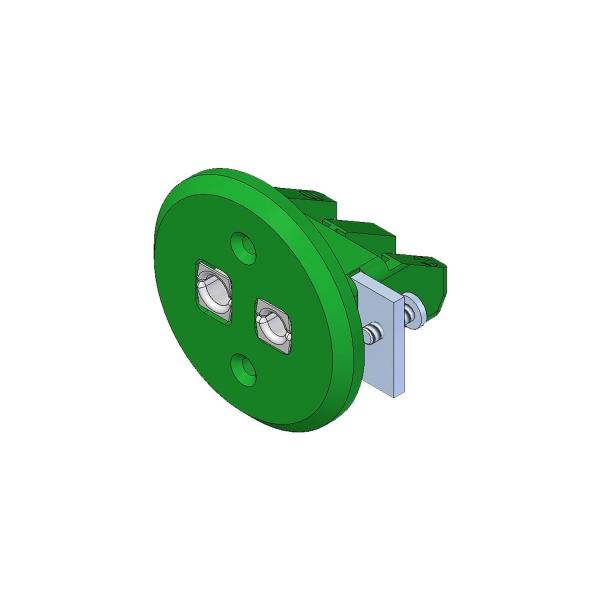 Standard Einbaukupplung Typ K grün - Steckverbinder