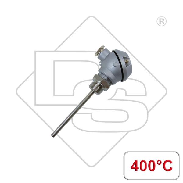 """Einschraubfühler mit Anschlusskopf Form J G1/2"""" 400°C"""