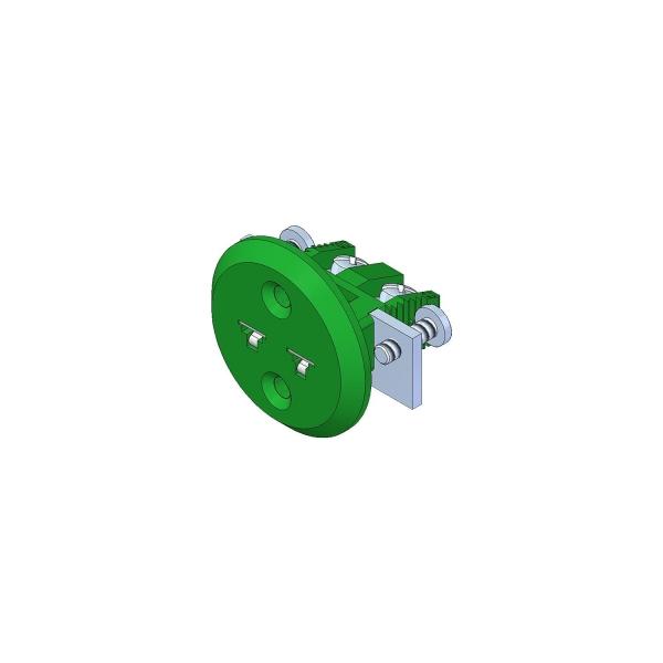 Miniatur Einbaukupplung Typ K grün - Steckverbinder
