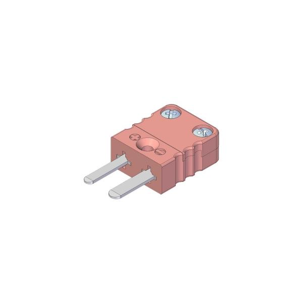 Miniatur Thermostecker Typ N rosa - Steckverbinder