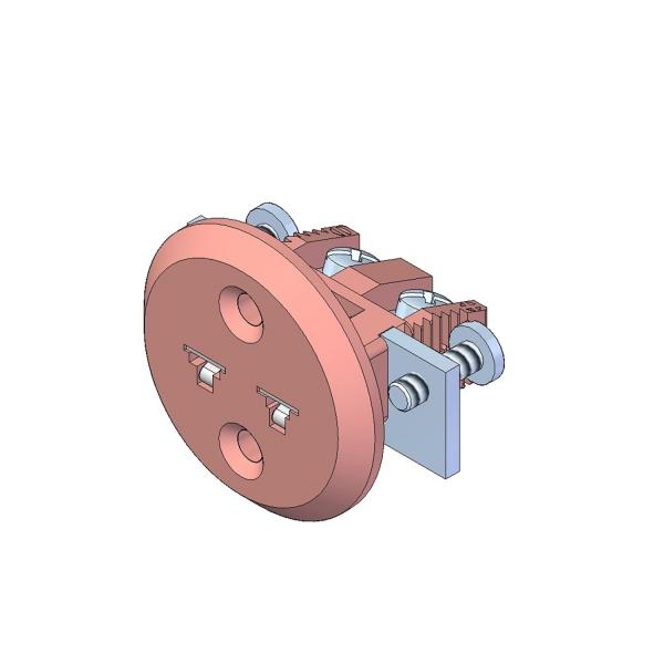 Miniatur Einbaukupplung Typ N rosa - Steckverbinder