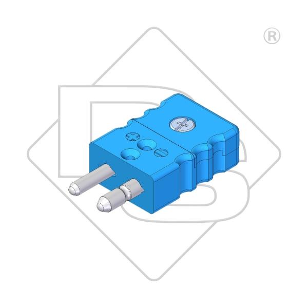 Standard Thermostecker Typ L blau - Steckverbinder