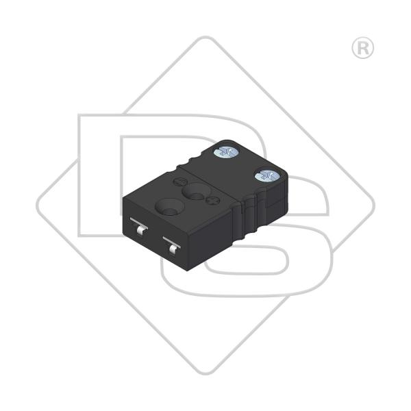 Miniatur Thermokupplung Typ J schwarz - Steckverbinder
