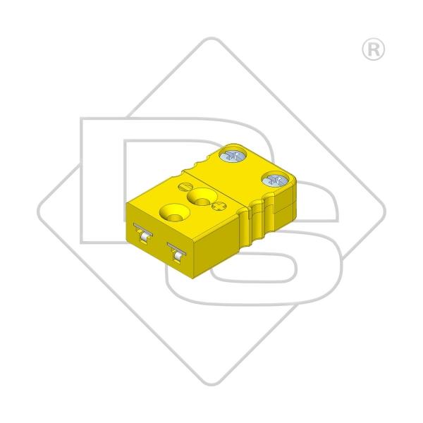 Miniatur Thermokupplung Typ K gelb - Steckverbinder