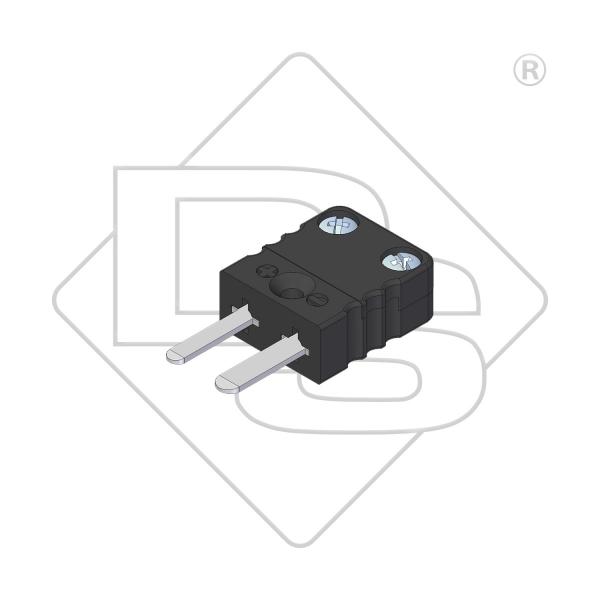 Miniatur Thermostecker Typ J schwarz - Steckverbinder
