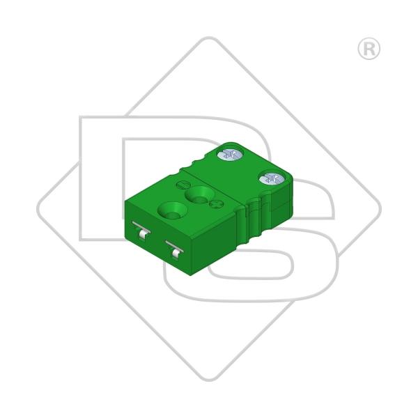 Miniatur Thermokupplung Typ K grün - Steckverbinder