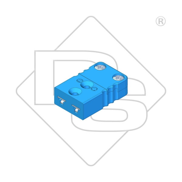 Miniatur Thermokupplung Typ L blau - Steckverbinder