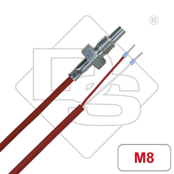 Einschraubfühler mit Silikon Leitung M8 Gewinde