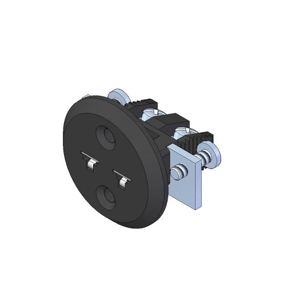 Miniatur Einbaukupplung Typ J schwarz - Steckverbinder